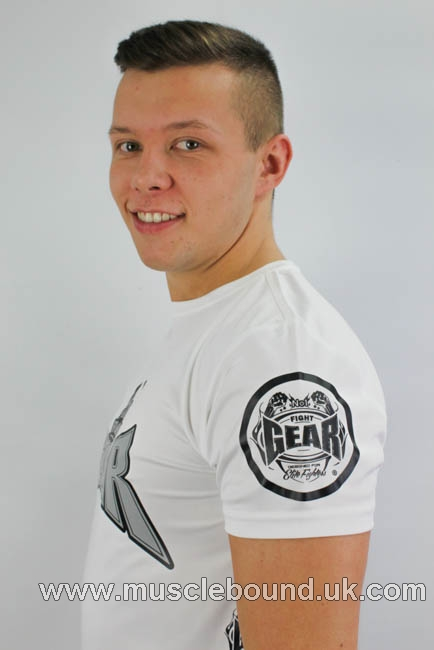 no1 fight gear t-shirt in white