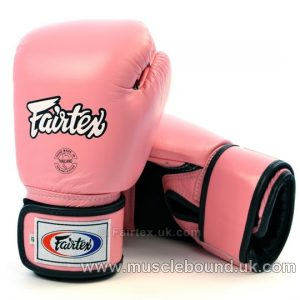 Fairtex Pink Breathable Boxing Gloves