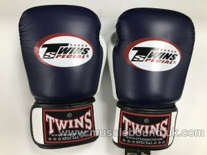 BGVL-3T Twins 2-Tone navy-white Air Boxing Gloves