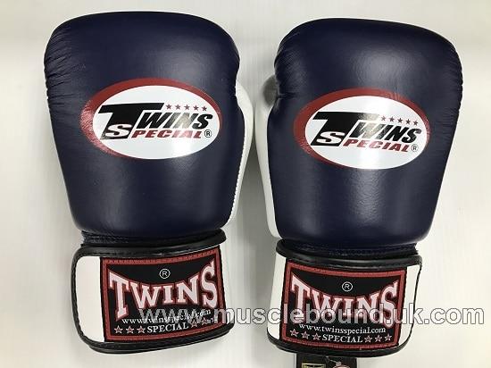 BGVL-3T Twins 2-Tone navy-white Air Boxing Gloves