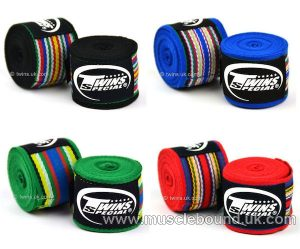 Twins 5m Black Premium Cotton Handwraps