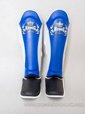 new topking adults shinguards 3x tone blue/ white/ black