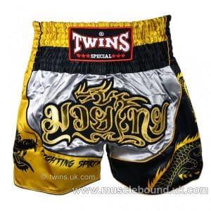 TWINS -Dragon-1 Twins Silver-Gold Dragon Muaythai Short