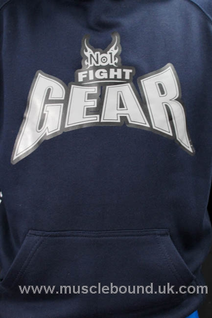 no1 fight gear pullover hoodie in navy