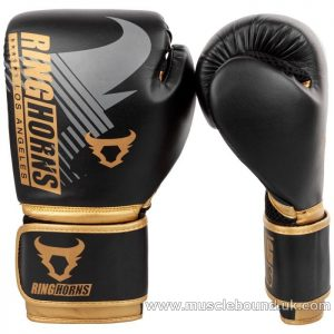 RINGHORNS CHARGER MX BOXING GLOVES - BLACK/GOLD