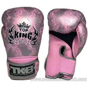 topking pink snake silver gloves