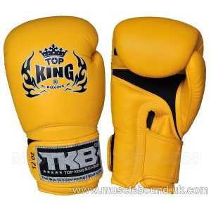 "TOP KING Boxing Gloves Super ""AIR"" Yellow With Yellow Palm"