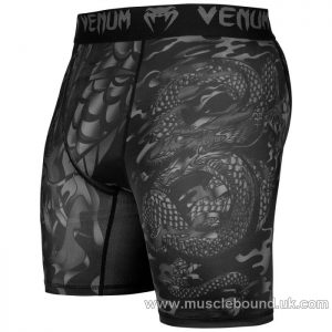 Venum Dragon's Flight Comppression Shorts - Black/Black