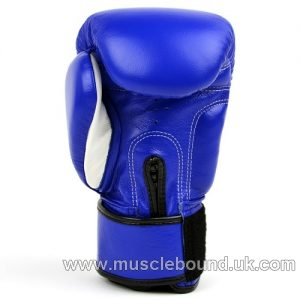 MTG Pro Blue Velcro Boxing Gloves