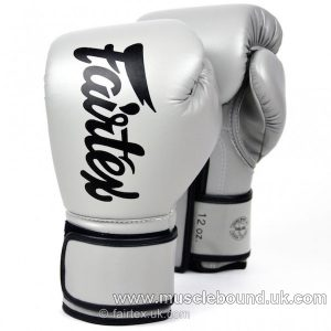 BGV14 Fairtex Grey Lightweight Microfibre Boxing Gloves