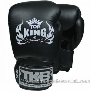 NEW Top King Blue Boxing Gloves Super Air BLACK