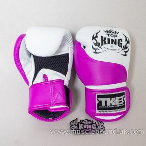 new kids topking 2 x toned gloves white/purple