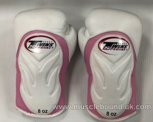 BGVL6 Twins White/ pink Deluxe Sparring Gloves