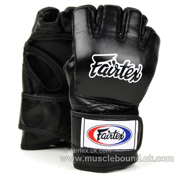 FGV12 Fairtex Black Ultimate MMA Gloves