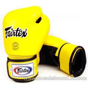Fairtex Yellow Breathable Boxing Gloves