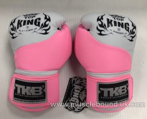 new kids topking gloves 2 x toned pink/white
