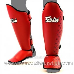 SP5 Fairtex Red Competition Shin Pads