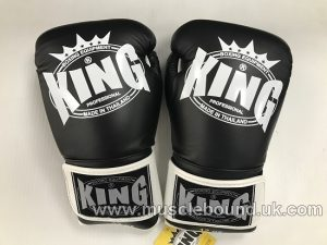 king boxing gloves 3 tone black/black/white