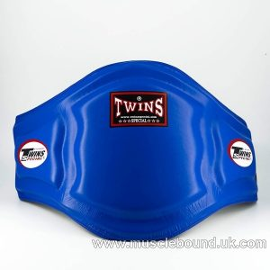 Twins Blue Double Padded Leather Belly Pad