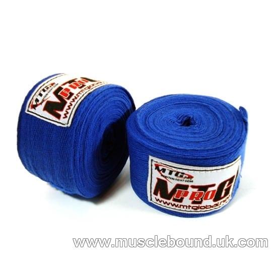 MTG Pro 5m Blue Cotton Hand Wraps