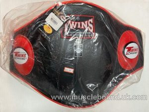 BEPL2 Twins Black/ red Leather Belly Pad