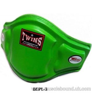 Twins Green Double Padded Leather Belly Pad