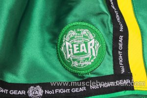 new arrival kids green/ yellow fight shorts
