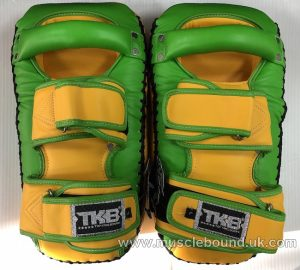 new arrival 2019 topking thai pads green / yellow sides