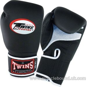 BGVLA-1 Twins Black-Black Air Boxing Gloves