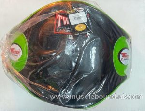 BEPL2 Twins Black/ green Leather Belly Pad