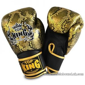 "Top King Gold / Black Boxing Gloves ""Snake"""