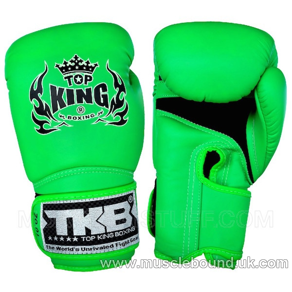 """NEW KIDS TOP KING Boxing Gloves Neon """"AIR"""" Green"""