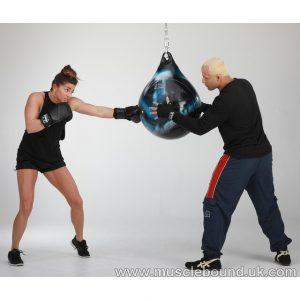 "Aqua Punching Bag 21"" Black/Silver"