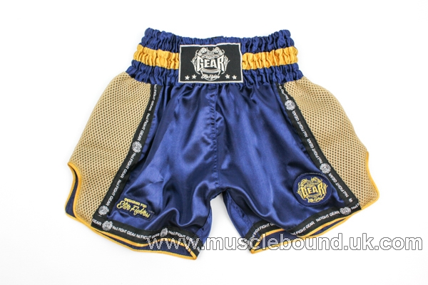 new arrival navy blue/ gold mesh kids shorts