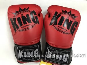 king boxing gloves 3 tone red/black/black
