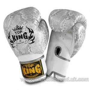 "Top King Silver / White Boxing Gloves ""Snake"""