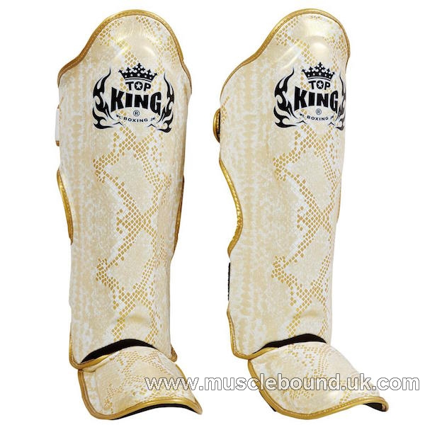 Top King white gold Snake Shinguards