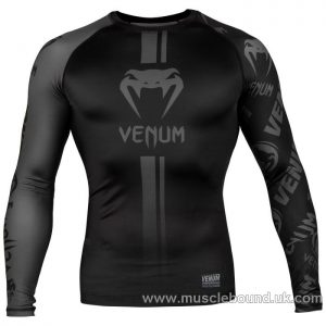 Venum Logos Rashguard - Long Sleeves - Black/Black