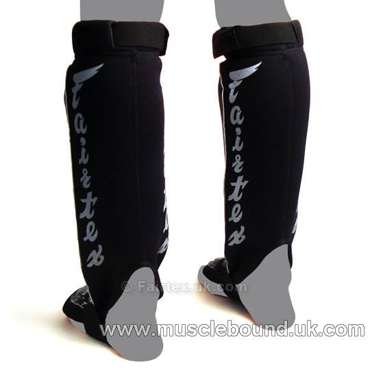 Fairtex Black MMA Style Shin Pads