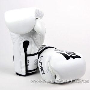 BGVG1 Fairtex X Glory White Velcro Boxing Gloves