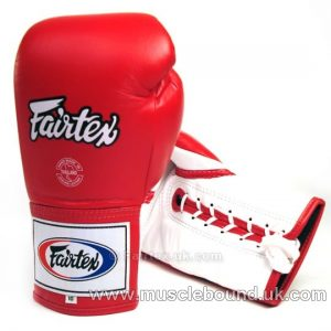 Fairtex Red Lace-up Competition Gloves BGL-6