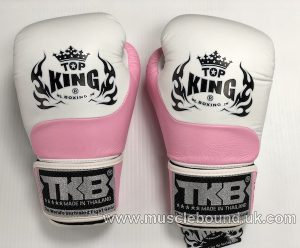 new topking adults gloves white/ baby pink