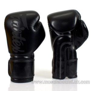 BGV14 Fairtex Solid Black Lightweight Boxing Gloves