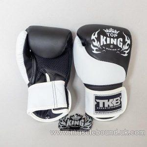 new topking kids gloves 2 x toned white/black