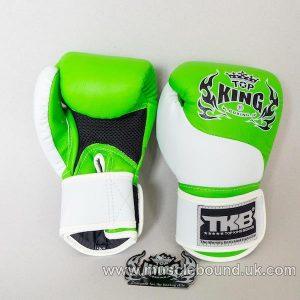 new topking kids gloves white/luminous green