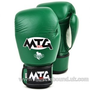 MTG-VG MTG Pro Green Velcro Boxing Gloves