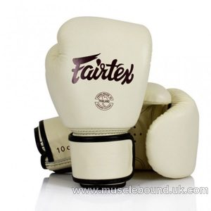 BGV16 Fairtex Khaki Leather Boxing Gloves