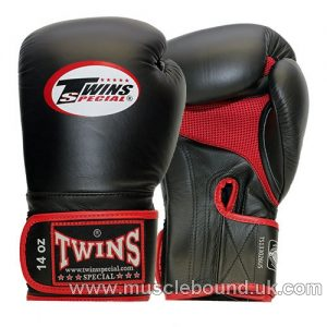 BGVLA-1 Twins Black-Red Air Boxing Gloves