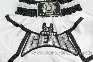 new arrival white satin/ black kids shorts