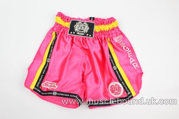 new arrival pink/ yellow mesh kids shorts